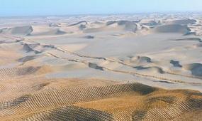 """巨網""""罩""""住塔克拉瑪干沙漠"""